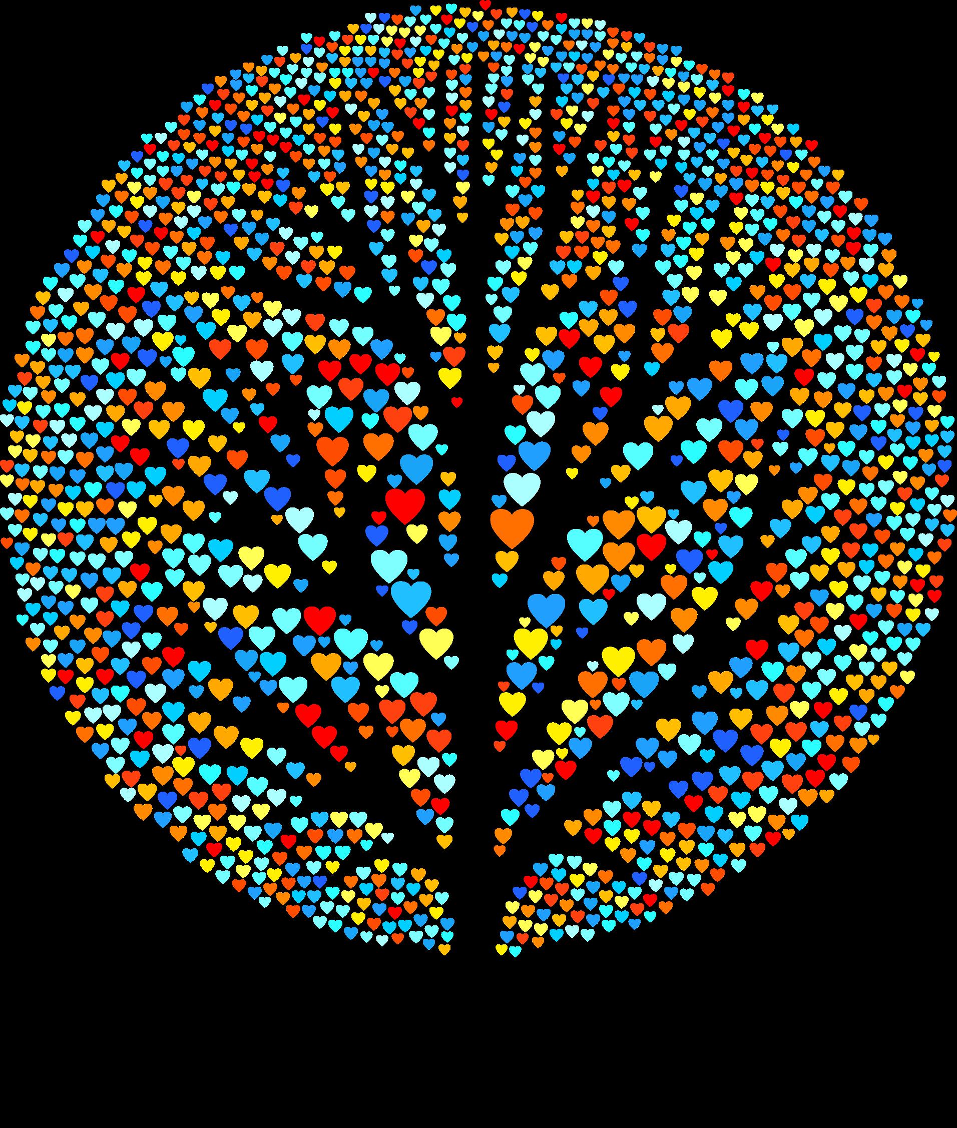 Tree clipart with hearts clip art stock Clipart - Hearts Tree clip art stock