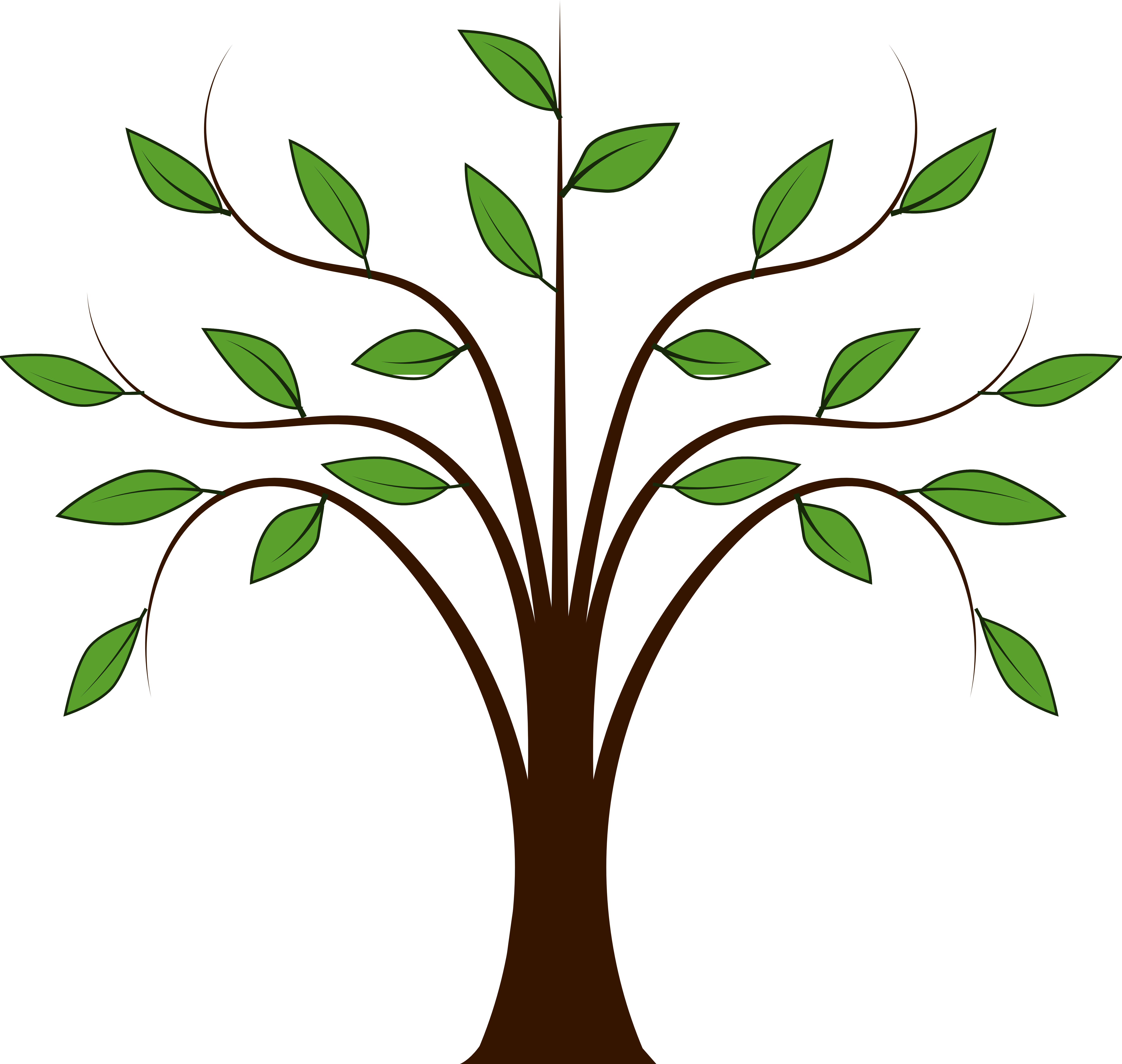 Tree roots clipart vector transparent Tree Clipart & Tree Clip Art Images - ClipartALL.com vector transparent