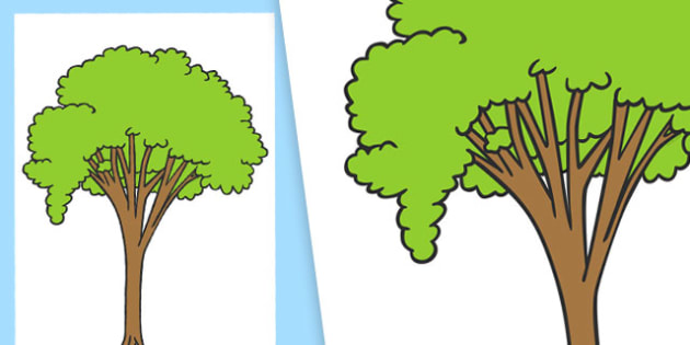 Large Tree Cut Out - large tree, cut outs, large, tree, cut ... image royalty free