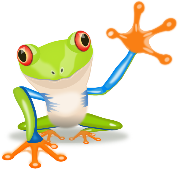 Tree frog clipart black and white picture library stock Image of Tree Frog Clipart #11371, Waving Frog Clip Art - Clipartoons picture library stock