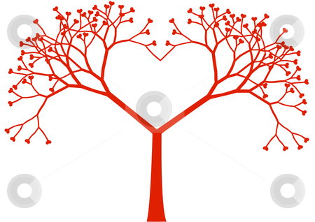 Tree hearts clipart banner transparent Animated Tree With Heart Clipart - Clipart Kid banner transparent