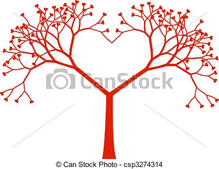 Tree hearts clipart png royalty free library EPS Vector of Tree heart, vector - Heart shaped tree with heart ... png royalty free library