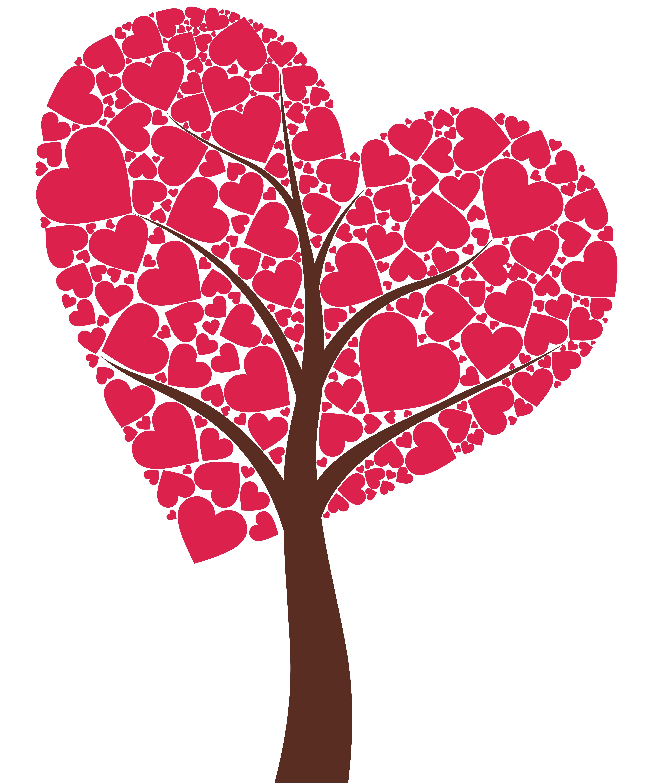 Tree hearts clipart transparent library Heart Tree Clipart - Clipart Kid transparent library