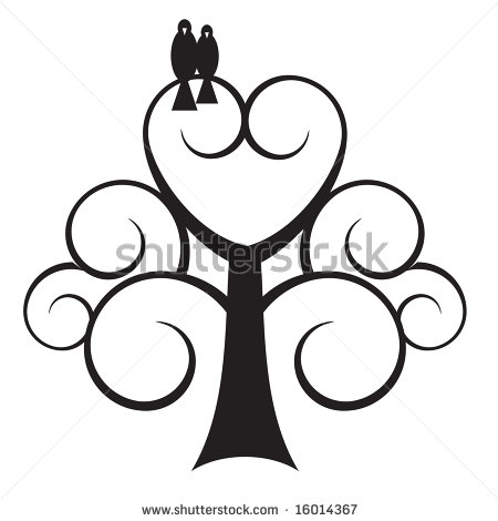 Tree hearts clipart graphic transparent Tree with a heart clipart - ClipartFox graphic transparent