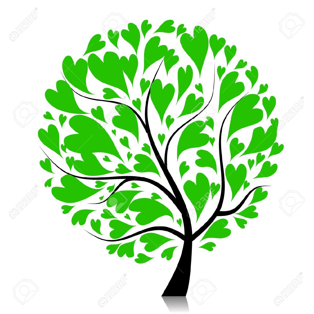 Tree hearts clipart picture library library Heart tree clipart vector - ClipartFox picture library library
