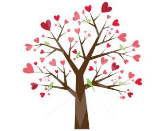 Tree hearts clipart jpg free stock Heart tree clipart   Etsy jpg free stock