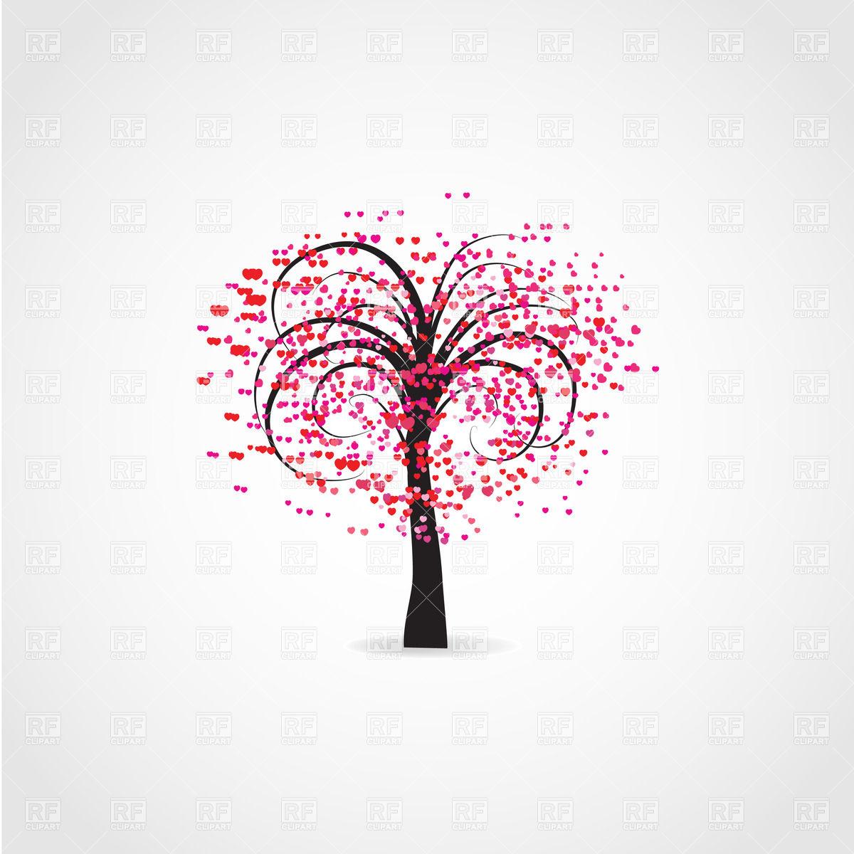 Tree hearts clipart clip free library Heart Tree Clipart - Clipart Kid clip free library
