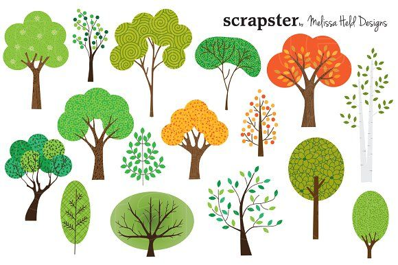 Tree illustrations clipart image black and white stock Trees Clipart Graphics A collection of 16 different tree ... image black and white stock
