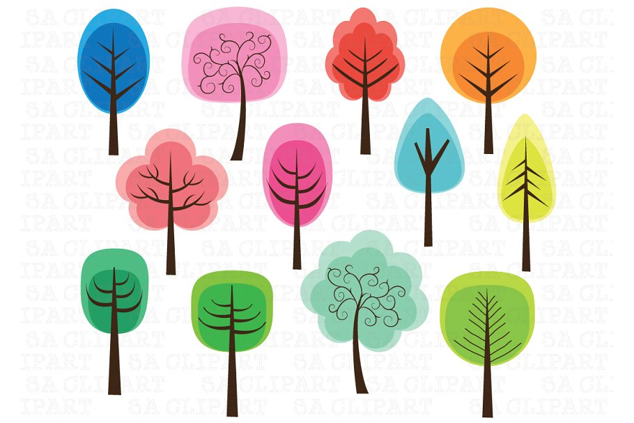 Tree illustrations clipart clipart freeuse stock Cute Tree Clipart clipart freeuse stock