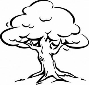 Tree clipart black and white | tree design | Tree coloring ... image royalty free