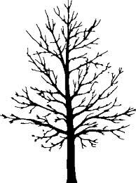 Tree in winter clipart silhouette image library deciduous tree in winter | Trees | Tree stencil, Bare tree ... image library