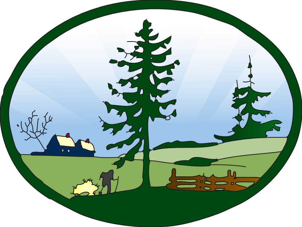 Tree landscape clipart vector free stock OnlineLabels Clip Art - Country Scene Redone vector free stock