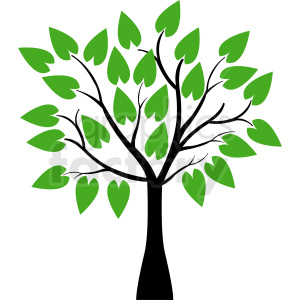 Tree leaves images clipart image free library vector tree with huge leaves clipart. Royalty-free clipart # 408923 image free library