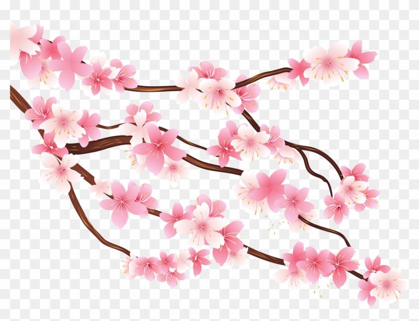 Tree limb with flowers clipart transparent background vector royalty free Flower Tree Png - Transparent Background Cherry Blossom Png ... vector royalty free