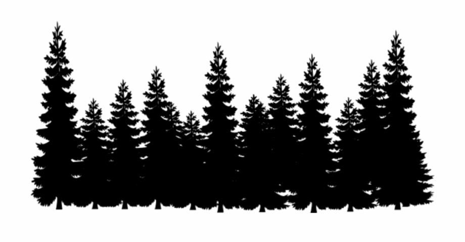 Tree line images clipart png transparent library Tree Line Png - Pine Tree Forest Silhouette Free PNG Images ... png transparent library