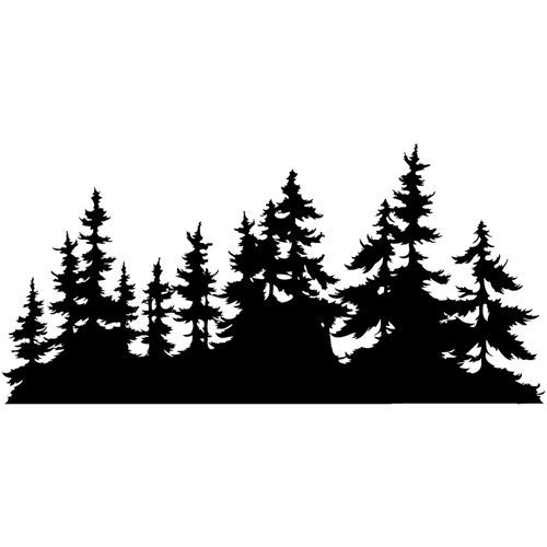 Tree line images clipart png free library Pin by Amanda Shinn on vinyl inspirations | Pine tree ... png free library