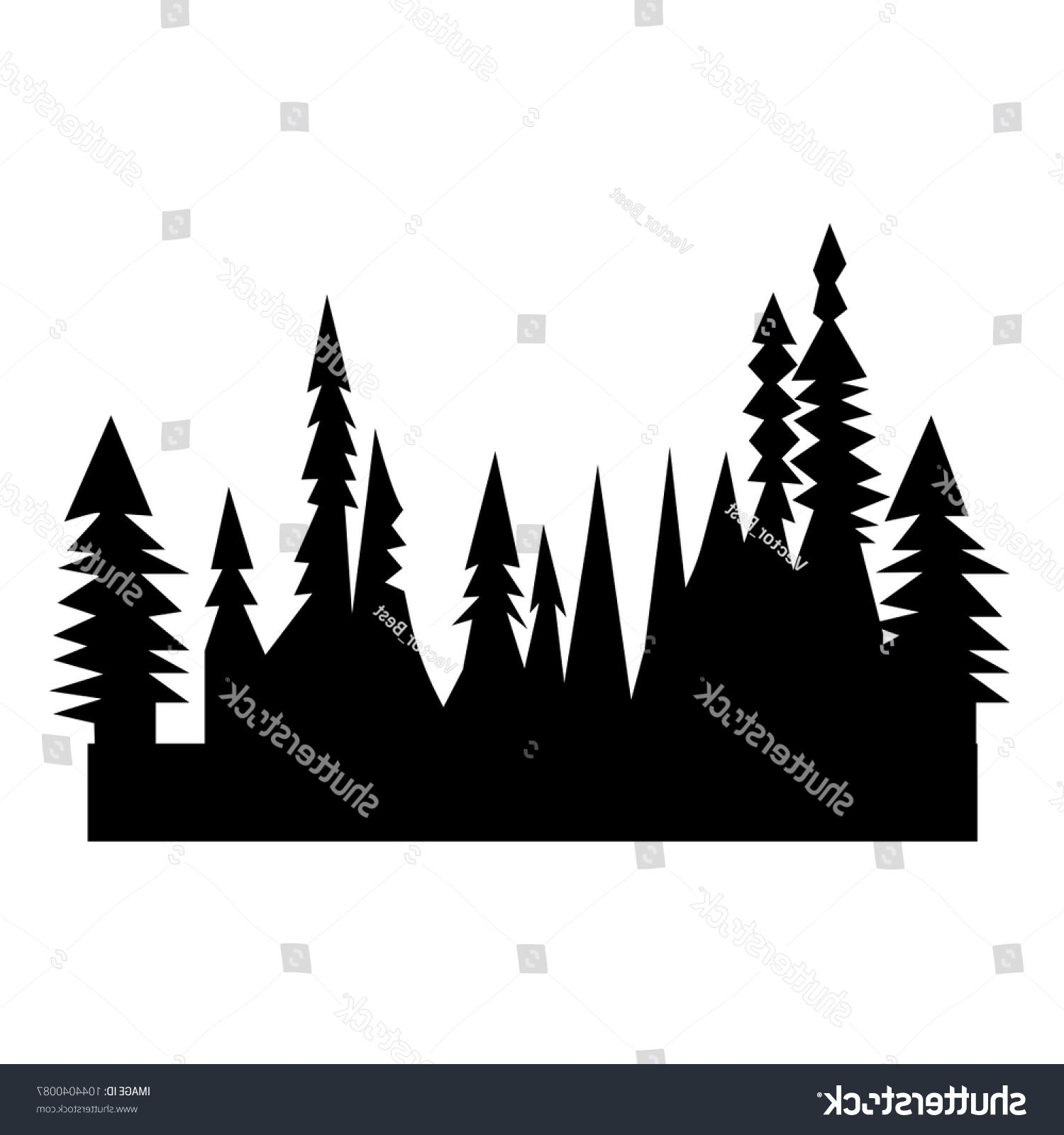 Tree line silhouette clipart vector image black and white stock Unique Treeline Silhouette Vector Library » Free Vector Art ... image black and white stock
