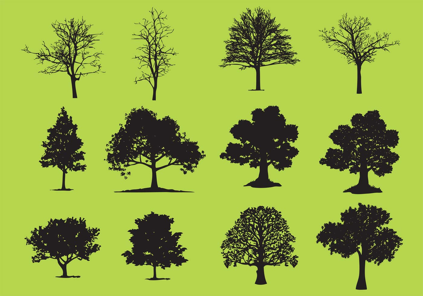 Tree line silhouette clipart vector image royalty free stock Tree Silhouette Free Vector Art | 13,216 Free Images! image royalty free stock
