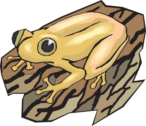 Tree log clipart image download Yellow Frog On A Log Clip Art at Clker.com - vector clip art online ... image download