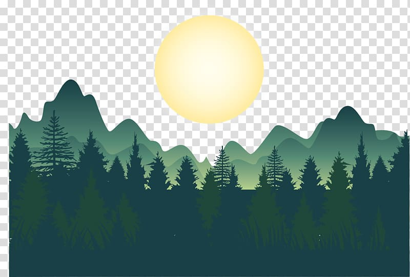 Tree looks ne forest clipart clip royalty free library Forest , Night deep forest mountains , green trees, mountain ... clip royalty free library