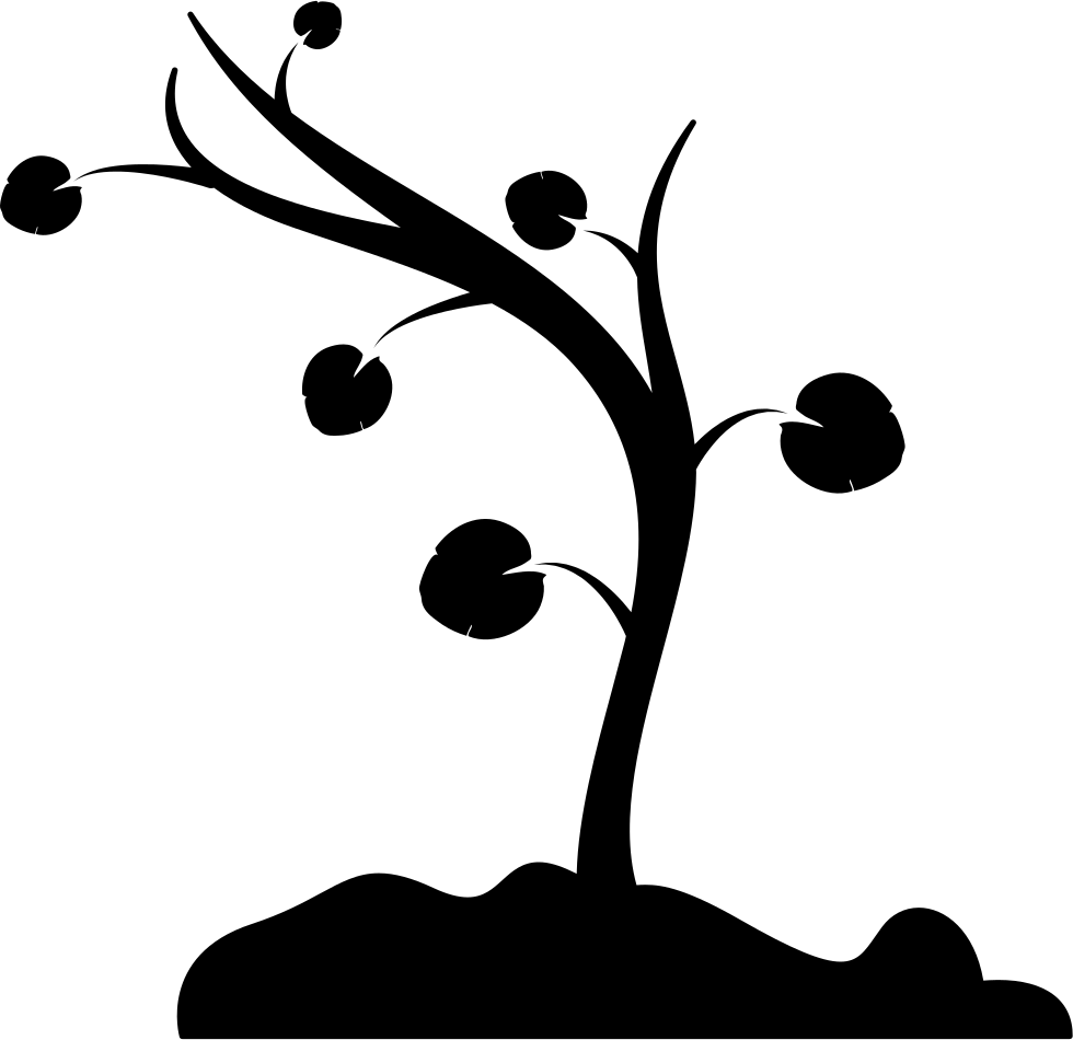 Tree no leaves clipart picture library library Tree Curved To Left With Few Leaves And Branches Svg Png Icon Free ... picture library library