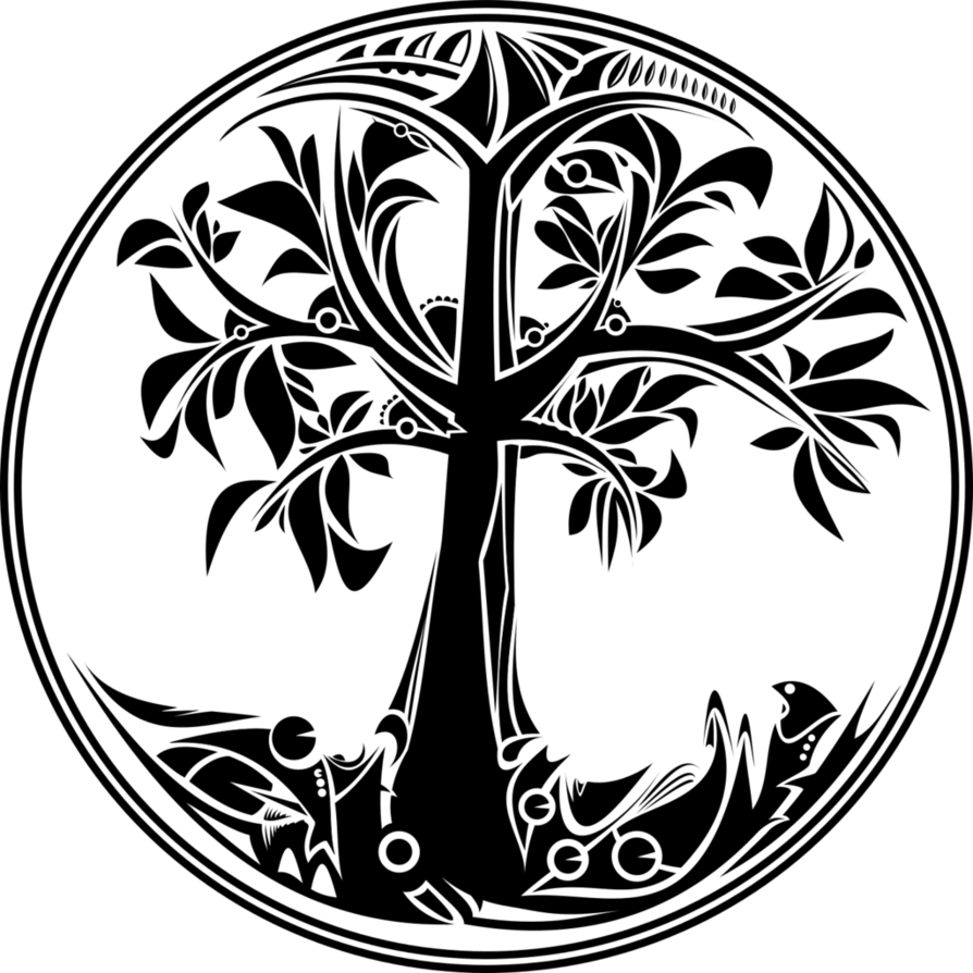 Tree of life black and white clipart vector freeuse Life tree by froshellin on DeviantArt vector freeuse
