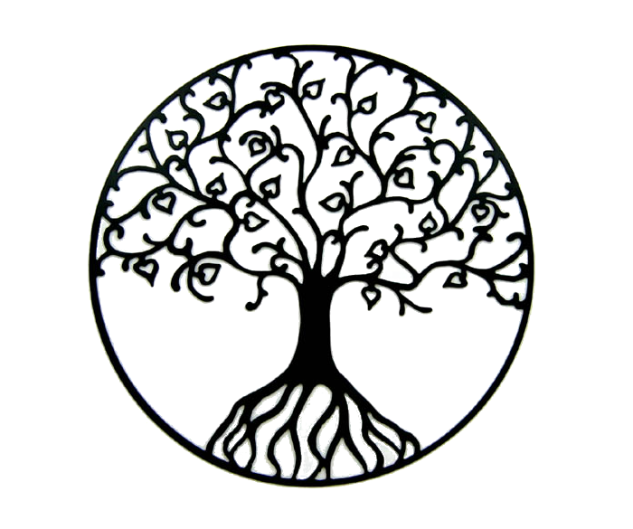 Tree of life silhouette clipart banner black and white library Tree of life Oak Clip art - tree png download - 700*585 ... banner black and white library