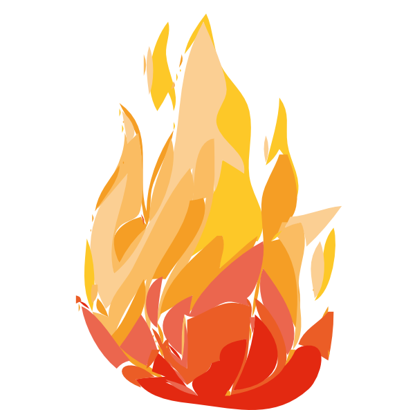 Tree on fire clipart vector freeuse Fire Flames Clipart at GetDrawings.com | Free for personal use Fire ... vector freeuse