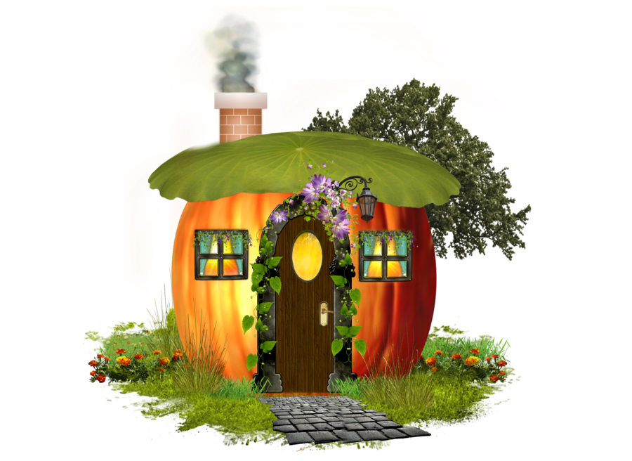 Tree on house clipart clip art PUMPKIN HOUSE by Moonglowlilly on DeviantArt clip art