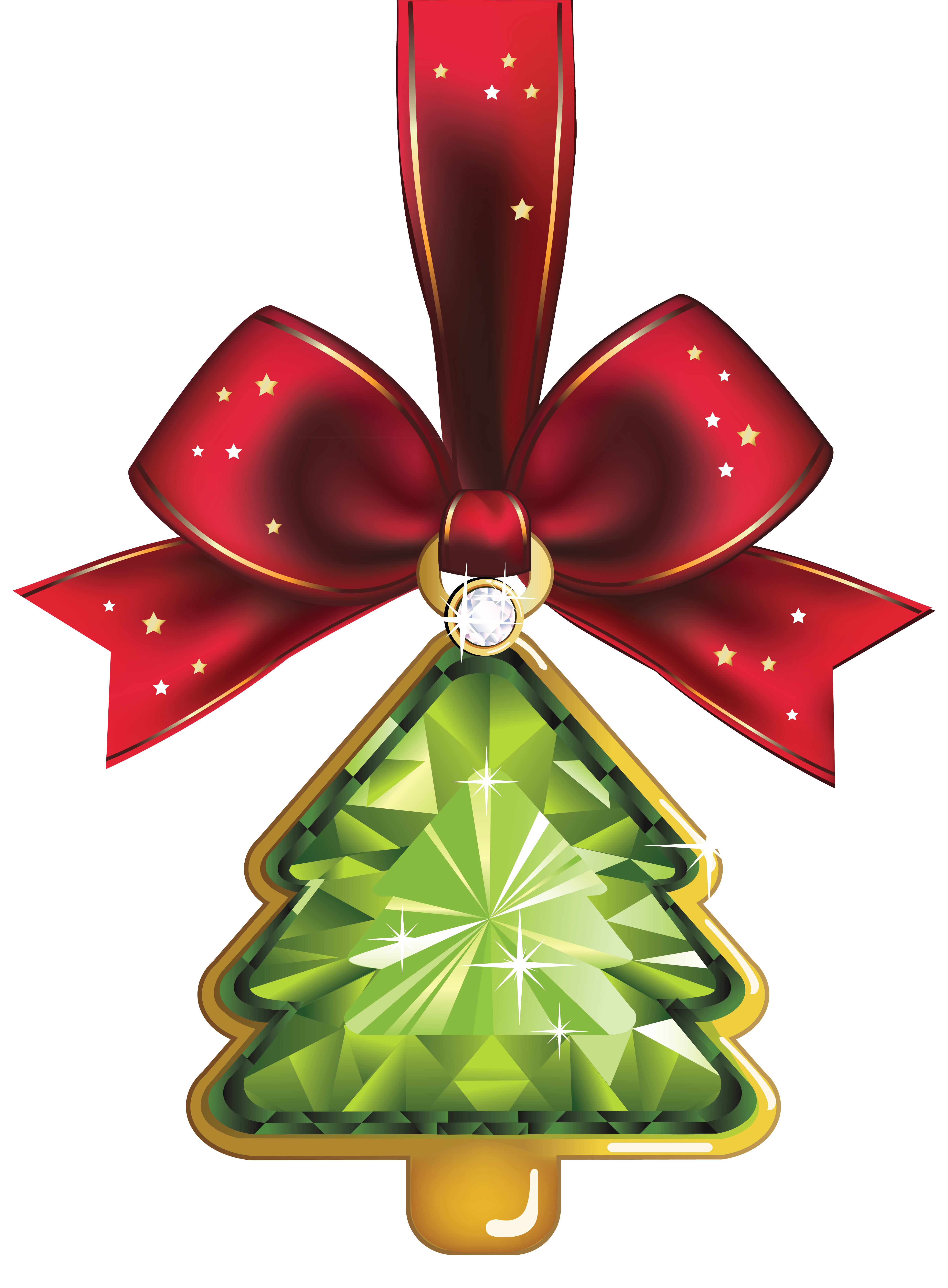 Christmas Crystal Tree Ornaments Clipart | Gallery Yopriceville ... vector library library