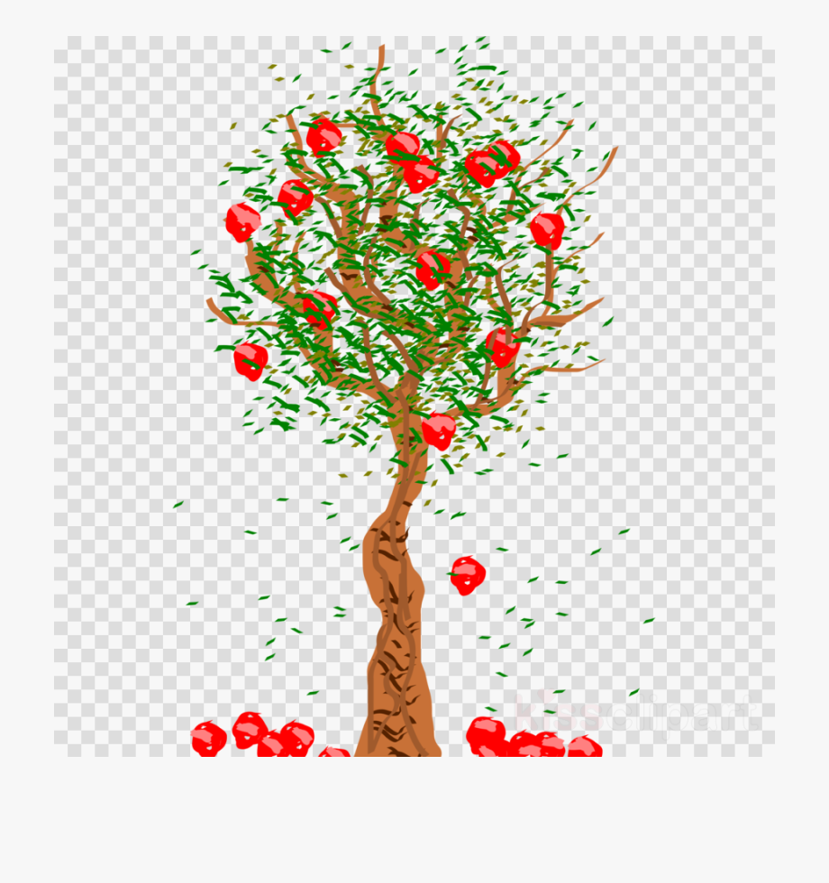 Tree Fruit - Apple Falling From Tree Clipart #2132285 - Free ... image library stock