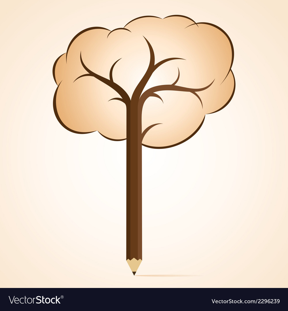 Tree pencil clipart banner free library Abstract pencil tree banner free library