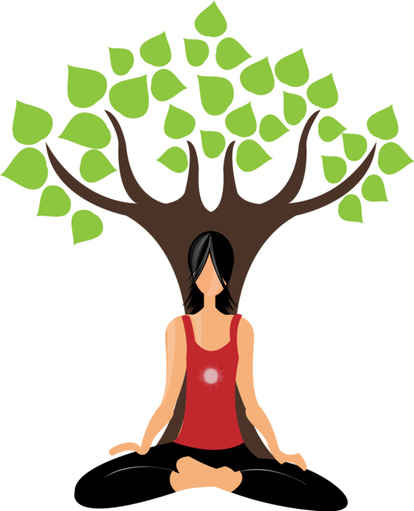 Yoga tree pose clipart jpg stock Yoga Illustration by Dhruv Sharma, via Behance | Graphic Design ... jpg stock