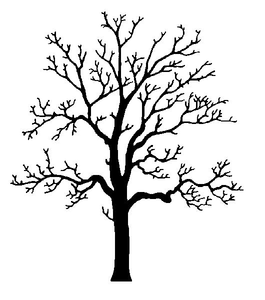 Tree silhouette clipart free picture black and white stock Clipart Oak Tree Silhouette | Free Images at Clker.com ... picture black and white stock