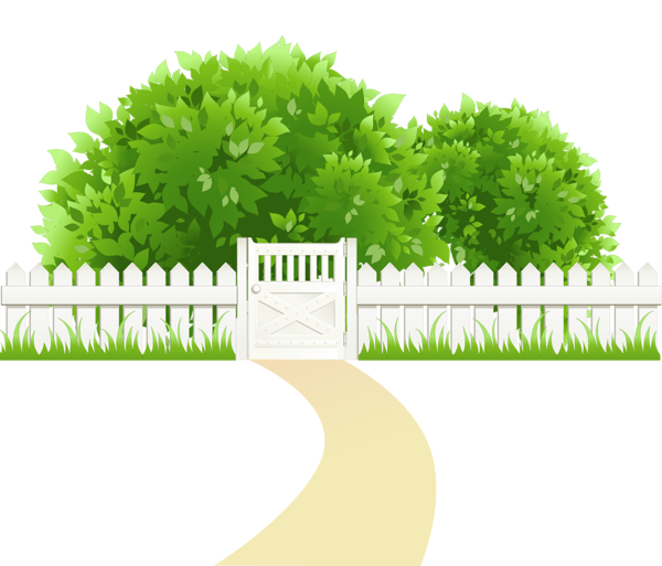 Tree sun grass landscape clipart vector royalty free stock Path with Fence and Trees Transparent PNG Clipart | ต้นไม้ ใบหญ้า ... vector royalty free stock