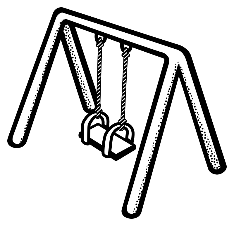 Swings Clipart Group (58+) png black and white library