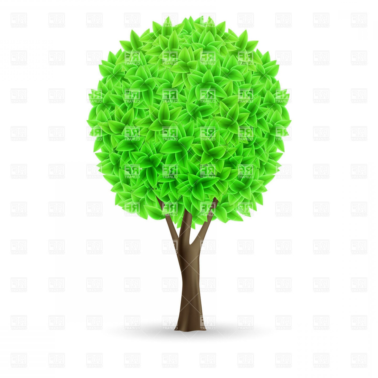 Green Tree On White Background Organic Eco Symbol Vector ... clip art black and white stock