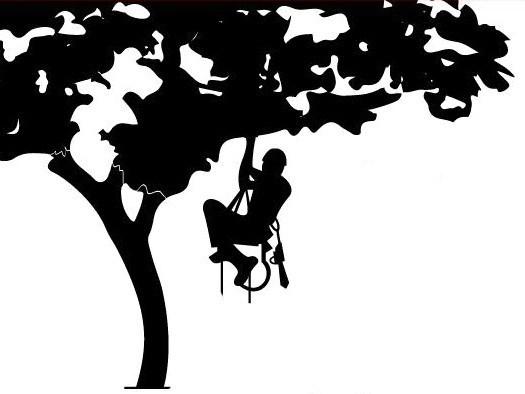 Tree trimmer clipart picture black and white stock 25+ Tree Trimmer Clip Art Landscape Pictures and Ideas on ... picture black and white stock