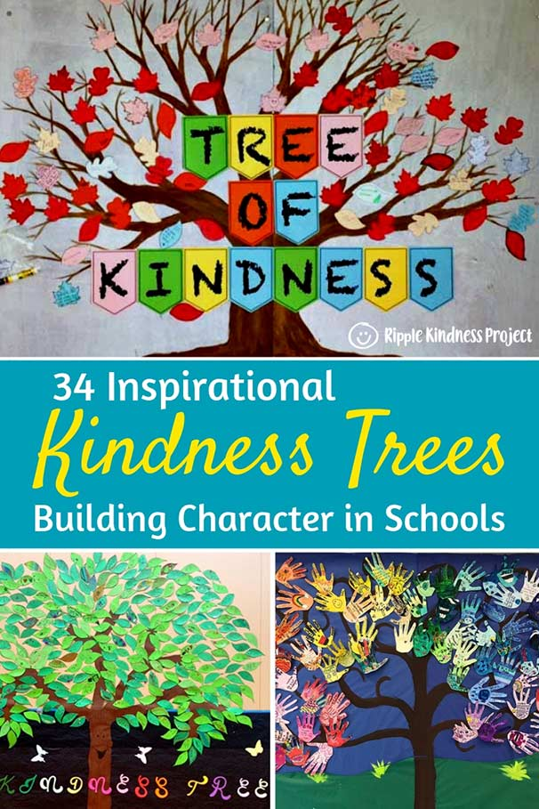 Tree trunk clipart space for a vocabulary word image freeuse stock 34 Inspiring Kindness Trees Building Character in Schools ... image freeuse stock