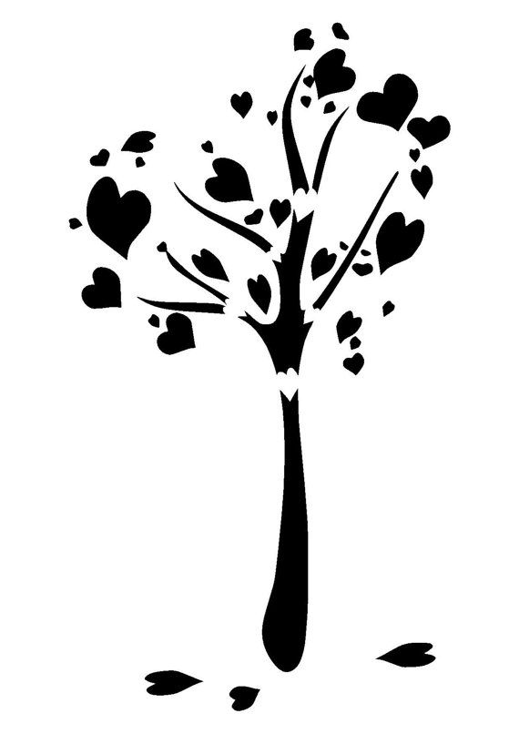 Tree with 8 hearts on it black and white clipart clip art transparent stock 1000+ ideas about Heart Tree on Pinterest | January crafts ... clip art transparent stock