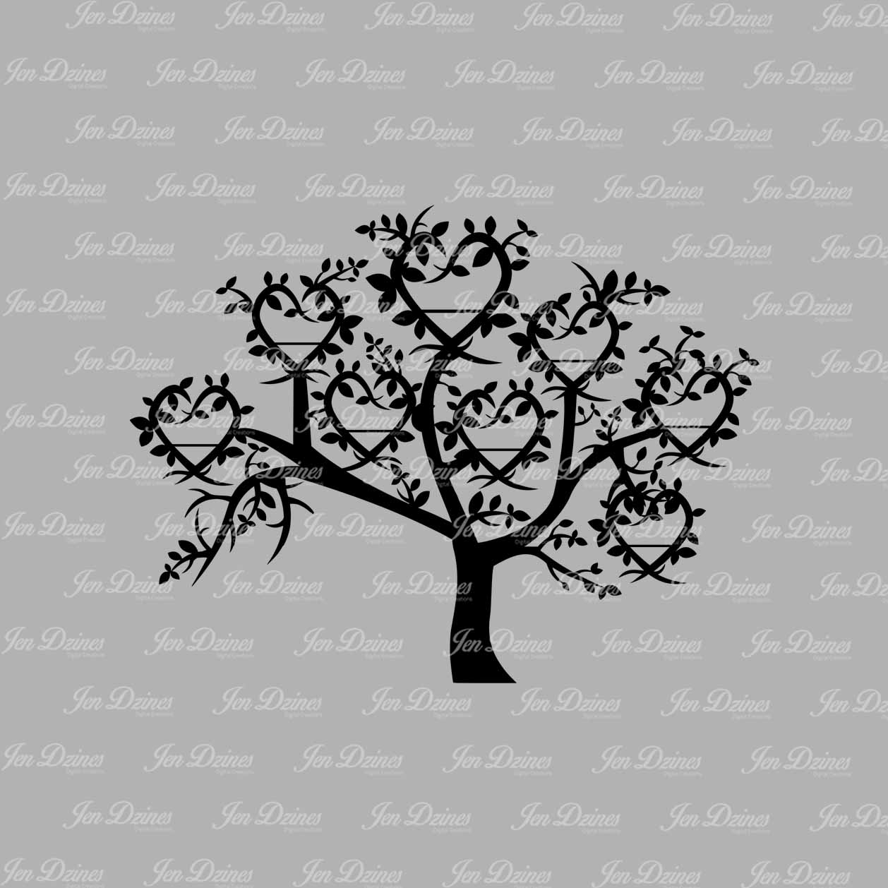 Tree with 8 hearts on it black and white clipart banner royalty free library Tree with 8 hearts on it black and white clipart - ClipartFest banner royalty free library