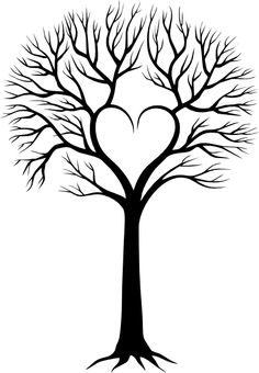 Tree with 8 hearts on it black and white clipart picture free Family tree with 8 hearts on it black and white clipart - ClipartFox picture free