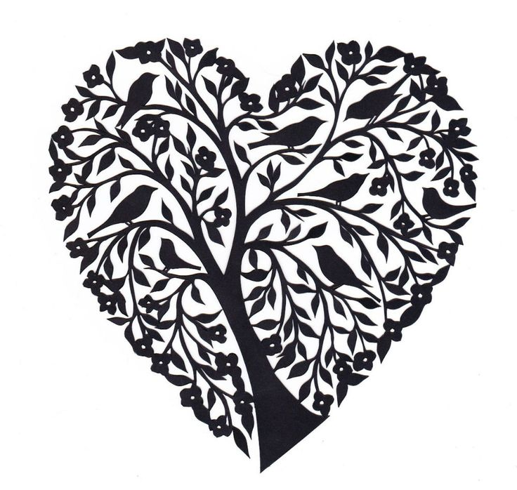 Tree with 8 hearts on it black and white clipart jpg black and white Tree with 8 hearts on it black and white clipart - ClipartFox jpg black and white