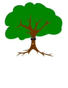Tree with a face clipart banner transparent library Tree With Face Clip Art at Clker.com - vector clip art ... banner transparent library