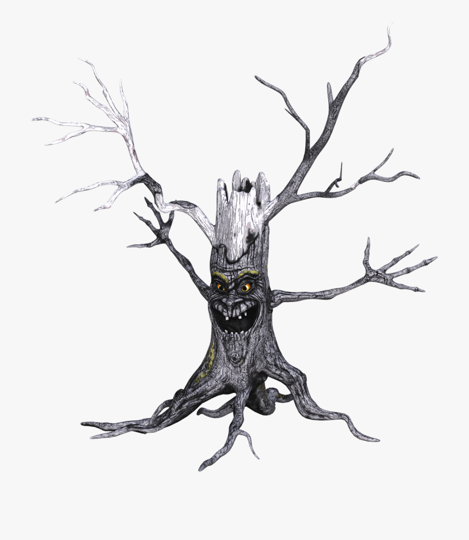 Tree with a face clipart banner transparent Descargar - Tree With Scary Face #1531749 - Free Cliparts on ... banner transparent