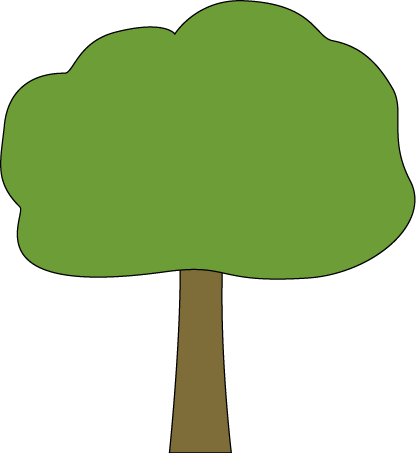 Tree with bow clipart