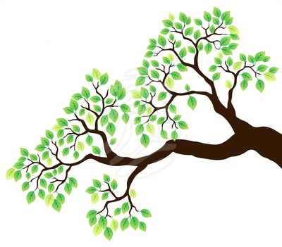 Tree with branch clipart clip art black and white library Clipart Tree With Branches And Leaves | Clipart Panda - Free ... clip art black and white library
