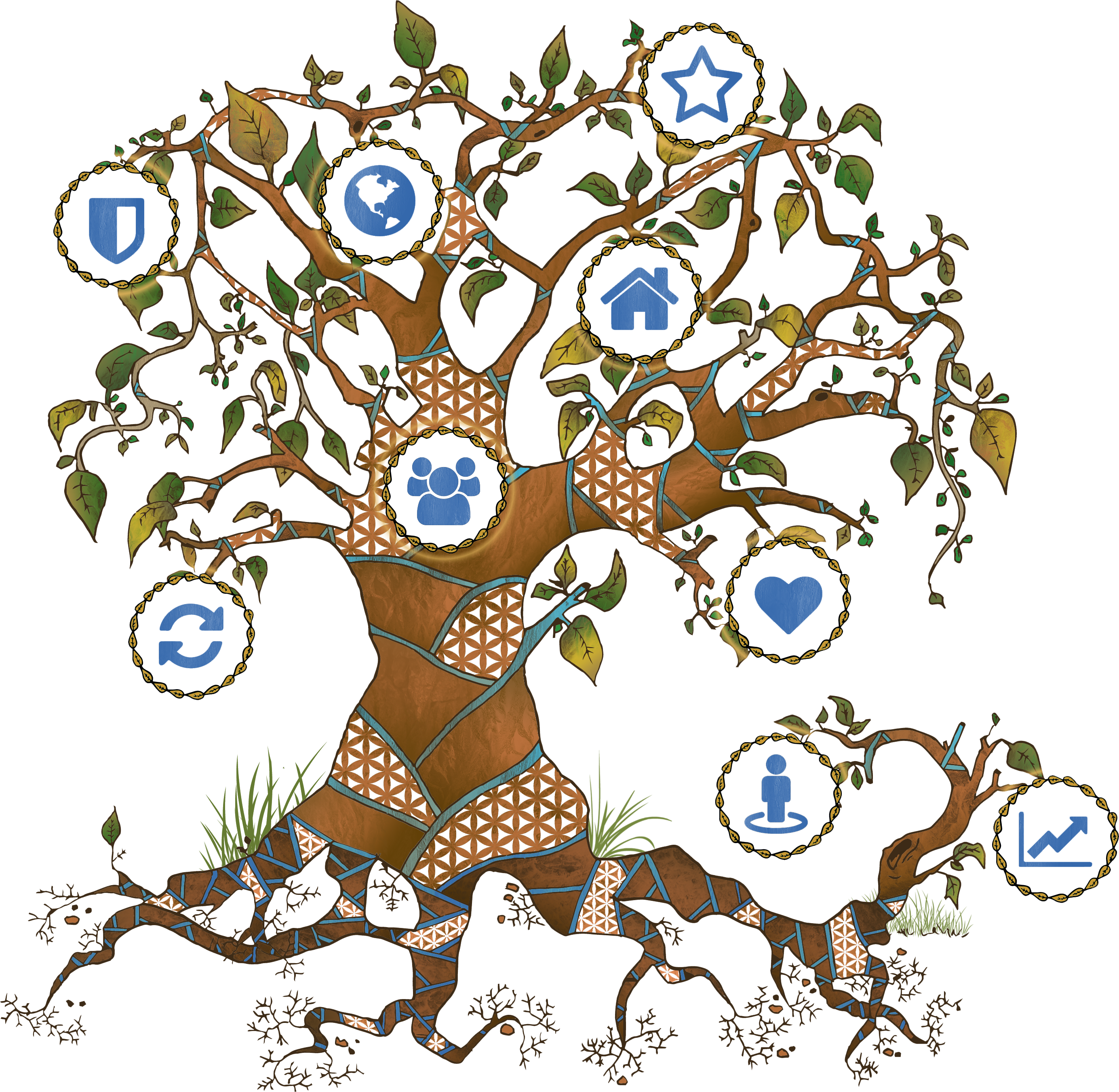 Tree with carved heart clipart banner freeuse stock The Tree of Life and New Beginnings - Blue Sky Enabling banner freeuse stock