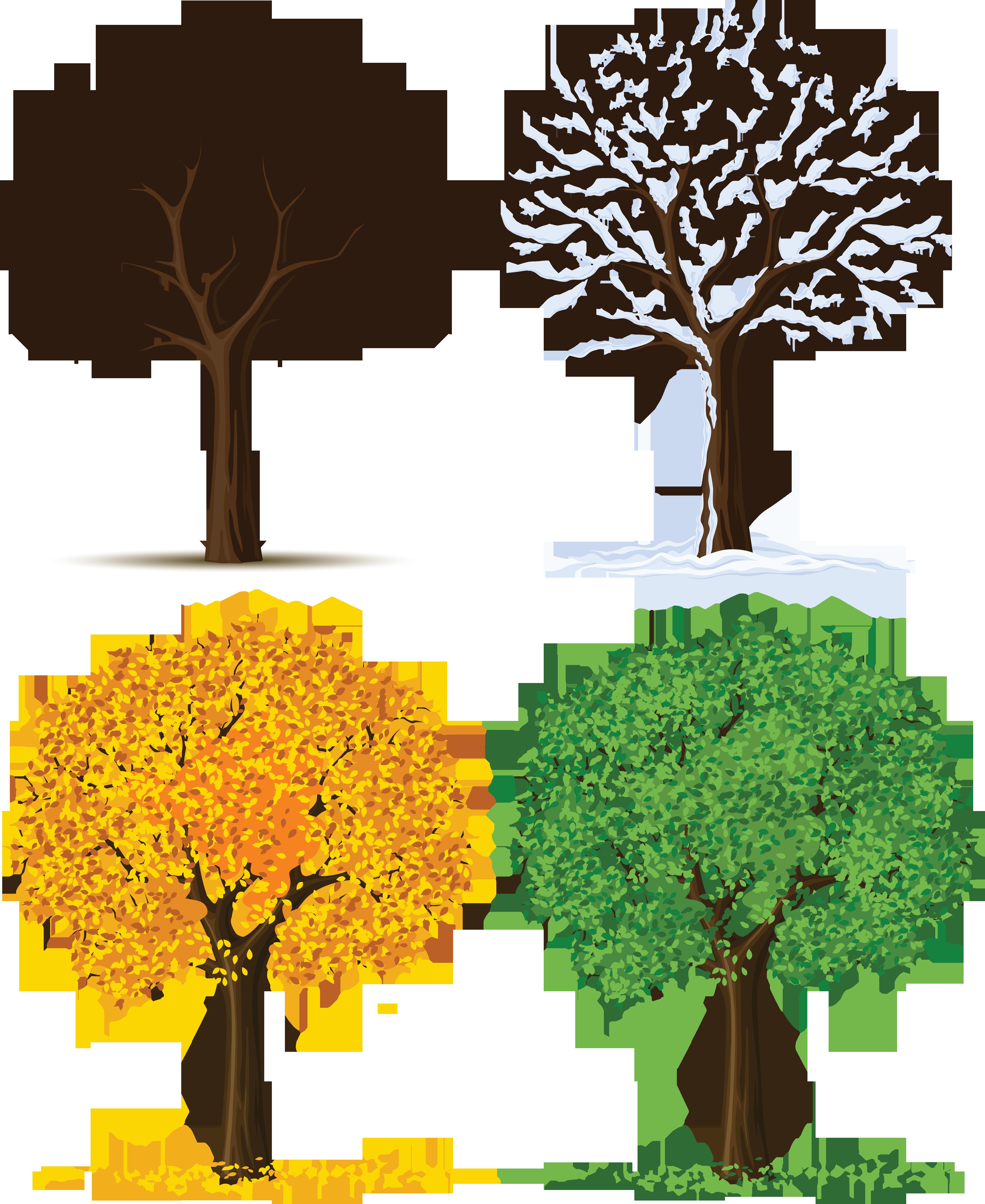 Four seasons tree clipart free clip art free library Tree with seasons clipart - ClipartFest clip art free library