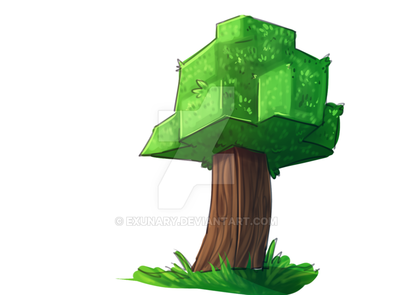 Tree with face clipart vector transparent library minecraft clipart tree - Clipground vector transparent library